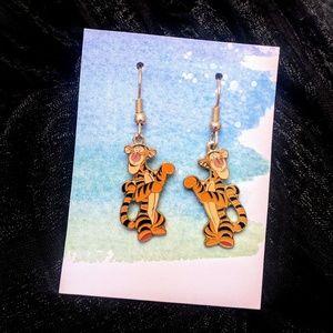 Vintage Tiger Earrings Disney Winnie the Pooh